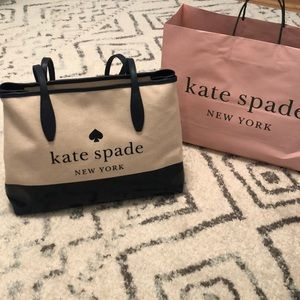 Kate Spade canvas tote bag NWT